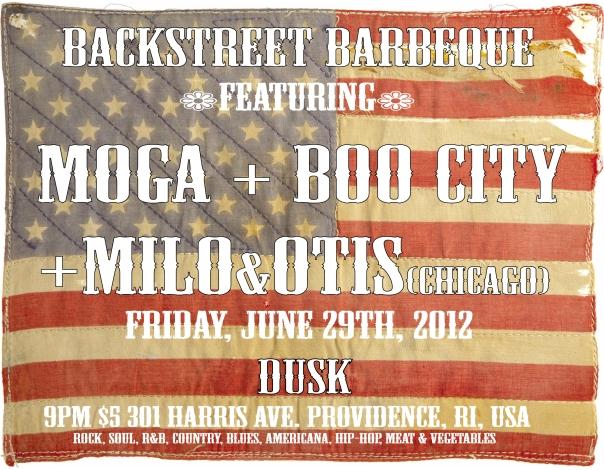 BACK STREET BBQ @ DUSK! Featuring Boo City, MOGA, Milo & Otis