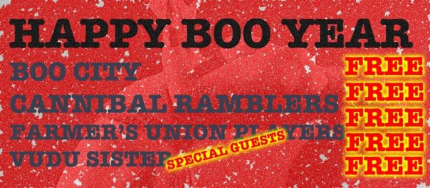 BRING IN 2014 WITH BOO CITY!! FREE SHOW AT NIC-A-NEES!!